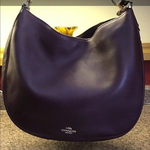 COACH Large Leather Nomad Hobo in Oxblood